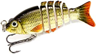 UNVINS 5cm 2.5g Multi Jointed Fishing Lures Hard Baits Lifelike 6 Segments Swimbait Bass Crankbaits Perch Pike Walleye Trout Fishing Baits