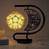 ZLX Iluminación De La Escultura De Papel De La Lámpara del Material DIY/Nightlights De Origami/Cultural Y Creativo Regalo (Color : Natural)