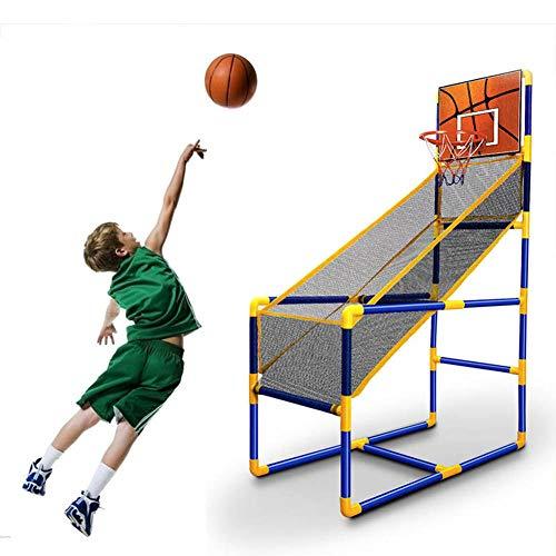 Juego de Baloncesto para niños, Juego de bastidores de Baloncesto portátil Set Shoot Hoop - Soporte de aro de Baloncesto y Red - Uso Interior / Exterior - Bola y Bomba Incluidas - Fácil de Montar