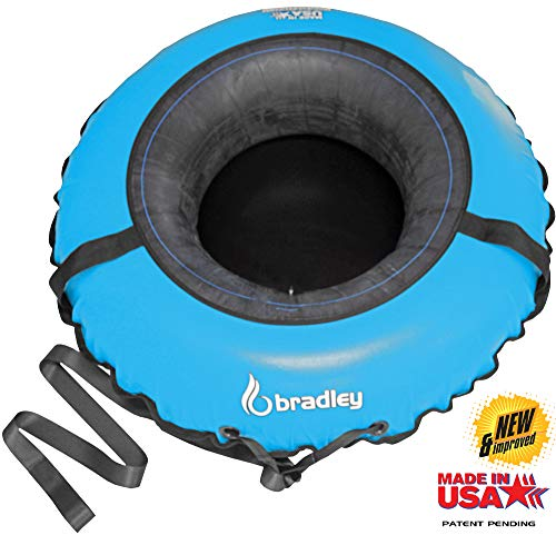 """Bradley Ultimate Towable Snow Tube Sled and Heavy Duty Cover (50"""" Blue) 