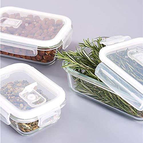 Set 3 pezzi di barattoli di conservazione con coperchio e valvola del vapore, 1040ml / 640ml / 370ml, barattoli di conservazione degli alimenti per congelatore, fornello e microonde
