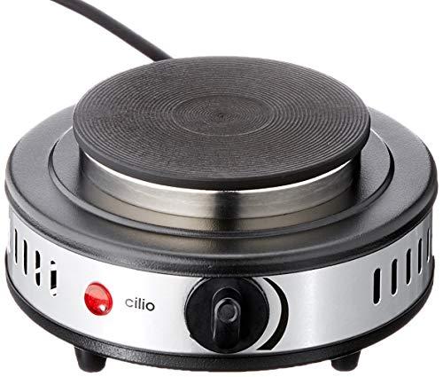 Cilio Mini Kochplatte Classic, schwarz, groß, 492316