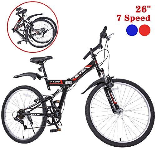 GTM 26' 7 Speed Folding Mountain Bike Bicycle Shimano Hybrid...