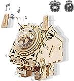 MHUI Corte del Laser de Madera 3-D Rompecabezas, Construir su Propia Madera Music Box Kits de artesanía, Día para Niños y Adultos Steampunk Rompecabezas Navidad/cumpleaños/de San Valentín