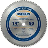 Oshlun SBF-140080 14-Inch 80 Tooth TCG Saw Blade with 1-Inch Arbor for Mild...