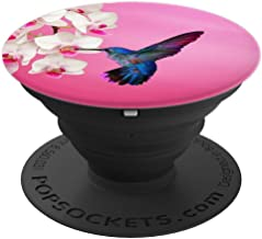 Hummingbird Flower Pop Up Hand Grip,Cell Phone Button Holder - PopSockets Grip and Stand for Phones and Tablets