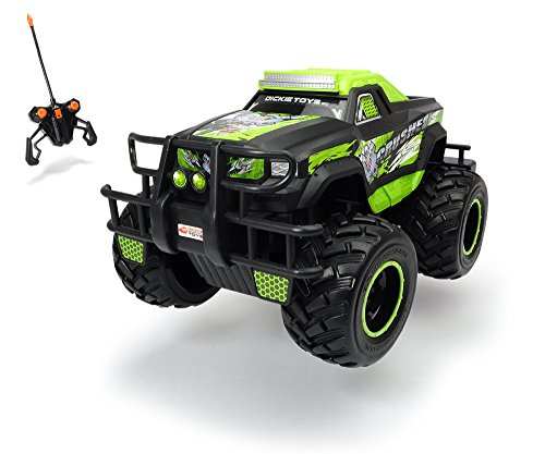 Dickie Toys RC Neon Crusher, Ferngesteuertes Auto für drinnen und draußen, 10 km/h, XL Monster Truck, mit Fernbedienung, für Kinder ab 6 Jahren
