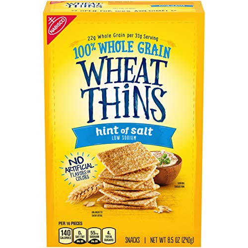 Wheat Thins Hint Of Salt Whole Grain Low Sodium Crackers, 8.5 Oz, 1Count