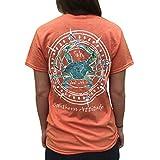 Southern Attitude Salty Deal with It Crab Sunset Orange Short Sleeve T-Shirt (Medium)