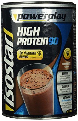 Isostar Powerplay High Protein 90 – 750 g hochwertiges Proteinpulver – Eiweißpulver mit Aminosäuren und Calcium zum effektiven Muskelaufbau – Schokolade