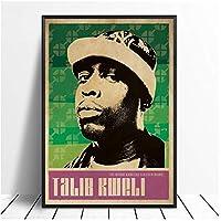 Qqwer タリブクウェリ音楽歌手ポスターヒップホップラップミュージックバンドスターポスター壁アート絵画家の装飾キャンバスプリント-50X70Cmx1Pcs-フレームなし