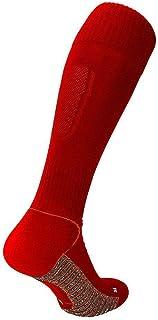 Precision Pro Grip Vuxen Fotboll Rugby Sport Strumpor Röd - UK 7-11