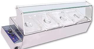 INTBUYING 4-Pan Buffet Bain-Marie Food Warmer Steam Table 1500W 110V Restaurant Warming