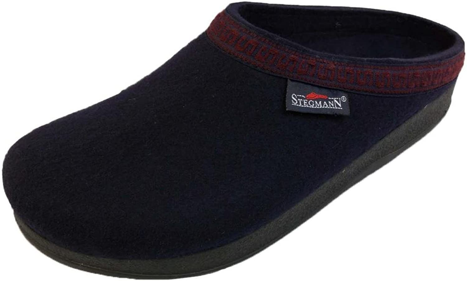 Stegmann Men's Wool Clog with Poly Sole, Navy