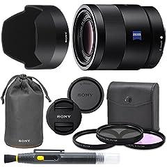 E-Mount Lens/Full-Frame Format - Aperture Range: f/1.8 to f/22 Three Aspherical Elements - Zeiss T* Anti-Reflective Coating Linear Autofocus Motor; Internal Focus - Minimum Focus Distance: 1.6' Dust and Moisture-Resistant Construction - Nine-Blade Ci...