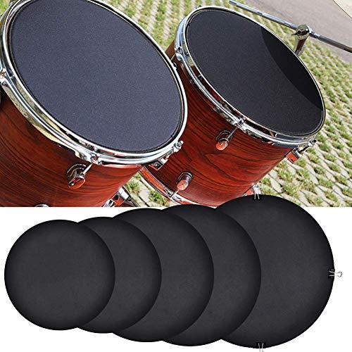 Schlagzeugmuffeln, 10 Stück/Set, Gummi-Schaumstoff-Dämpfer, Schalldämpfer, Drumming, Übungspad, Bassdrums, leiser Sound off/leise, Schwarz