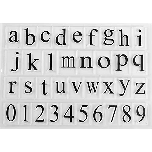 MaGuo Number and Letter Clear Stamps for Paper Craft and DIY Scrapbooking