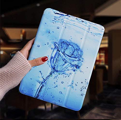 Hannuo Funda de Cuero de PU Inteligente para Dormir y Despertar para Samsung Galaxy Tab S2 8.0 Pulgadas T710 T713 T715 T719 SM-T71 Cubierta Trasera Funda Coque-Rosa de Hielo_China