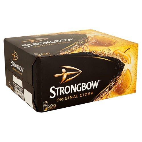 Original Strongbow Cider 20x 440ml MULTIPACK - Pfandfrei! kohlensäurehaltiger Apfelwein