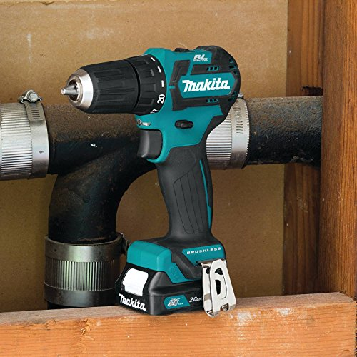 Makita FD07R1 12V MAX CXT Lithium-Ion Brushless Cordless Driver-Drill Kit, 3/8