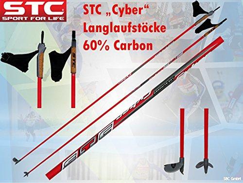 STC 60% Carbon Langlaufstock Skating Stöcke Skistöcke Skate Cyber (170 cm)