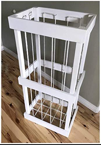 Stuffed Animal Zoo-Toy Storage-Stuffed Animal Cage-Stuffed Animal Organizer-Wood Animal HolderZoo Keeper-White ZooStorage-Kids Gift