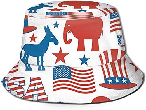 zhouyongz Unisex-Adult Fisherman Hat USA Election Symbols Men