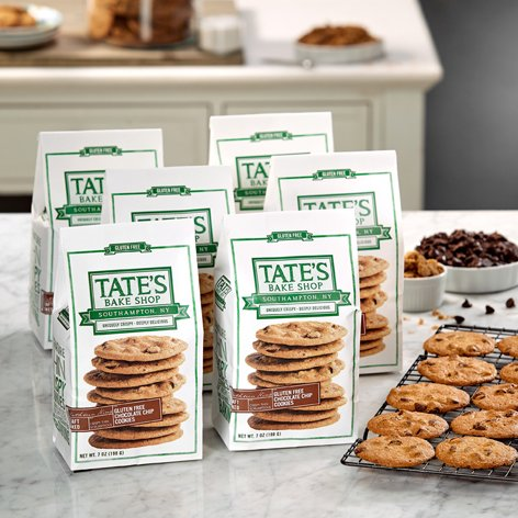Tate's Bake Shop 6 Pack Gluten Free Chocolate Chip Cookies Tate's Exclusive