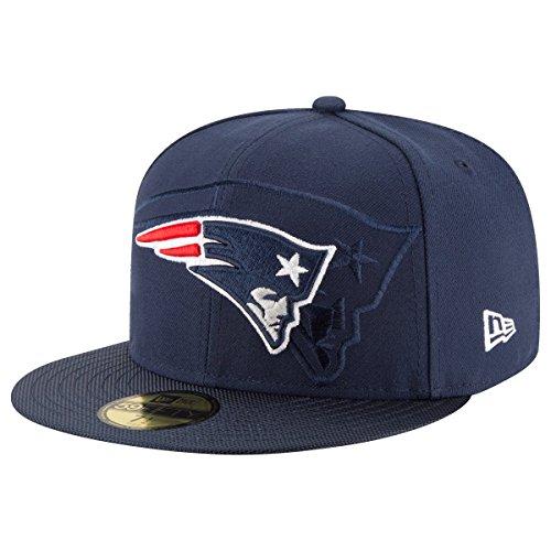 New Era NFL Sideline 59Fifty Neepat OTC - Schirmmütze Linie New England Patriots für Herren, Farbe Blau, Größe 6 7/8