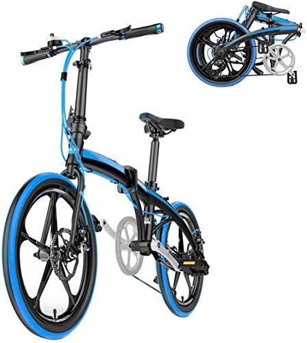 Mini bicicleta plegable ligera de 20 pulgadas, 7 velocidades, unisex, para adultos y estudiantes al aire libre, bicicleta de montaña para hombres y mujeres