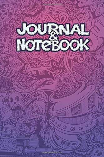 Doodle Pink Journal and Notebook: 120 Lined Pages - 6 x 9