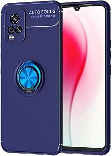 Vivo V20 Cover - Soft TPU - 360°Rotating Finger Ring - Shockproof - Magnetic Car Mount (blue)