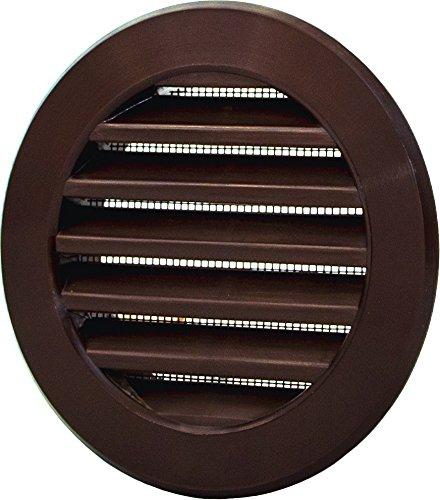 L2 Grille d'aération ronde Ø 100 mm marron avec moustiquaire en plastique ABS résistant aux intempéries Protection contre les insectes