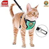 AWOOF Cat Harness and Leash Escape Proof, Adjustable Cat Kitten Puppy Walking Jacket with Metal Leash Ring, Soft Breathable Small Pet Vest (M)(Original Version)