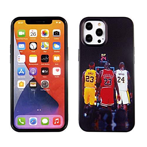 CASETERNITY TPU Hülle Kompatibel mit iPhone 12 Pro Max 6.5 Zoll Slim Fit Cover iPhone 12 Pro Max Lebron Jordan Kobe Basketball Ziege