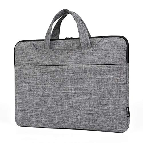 Wwgrysp Sleeve Compatible with 13-13.3 inch MacBook Air, MacBook Pro, Notebook Computer, Multifunctional Briefcase Bag, Lenovo Dell Toshiba HP Acer Chromebook -Light Gray,14.1inches