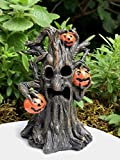 Miniature Dollhouse FAIRY GARDEN ~ Mini HALLOWEEN Spooky Face Tree w LED Lights