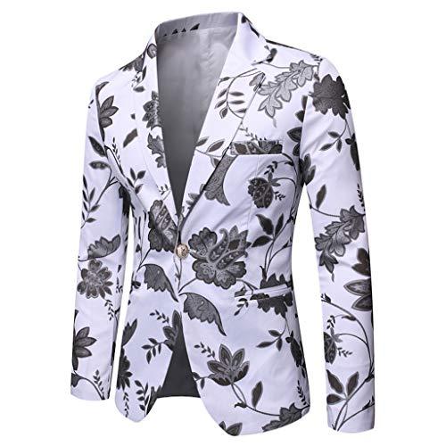 Vovotrade Sakko Anzugjacke Herren Slim fit Sakko Vintage Umlegekragen mit glitzerndem Paisley Muster Suit für Hochzeit Urlaub Freizeit Party Abschluss Performance Business