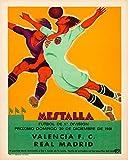 Fußball Poster Soccer Plakat Real Madrid v Valencia FC