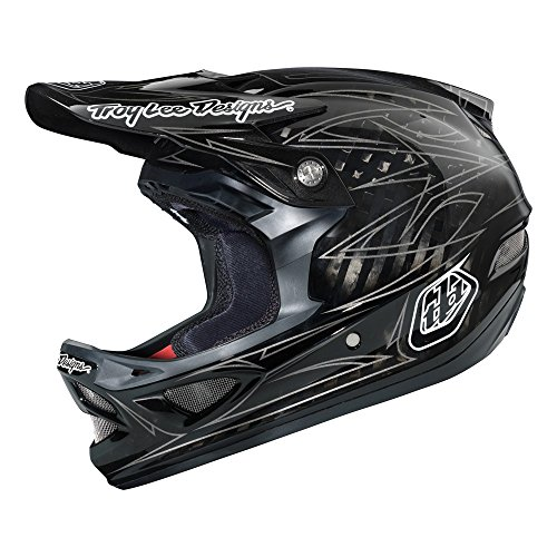 Troy Lee Erwachsene Helm D3 Pinstripe II, Schwarz, L