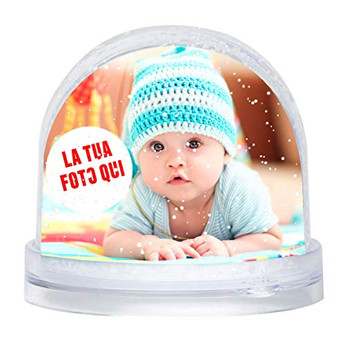 LaMAGLIERIA Bola de Nieve Personalizada con tu Foto