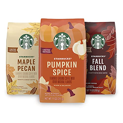 Starbucks Flavored Ground Coffee —Varitey Pack — Fall Limited Edition — 3 bags total