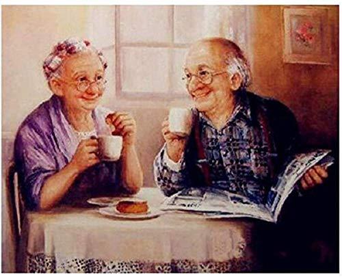 KELDOG® Legpuzzels 1000 stukjes voor volwassenen Houten puzzel - Oud koppel drink samen water, Decompressie Kinderen Puzzelspeelgoed, Logische geheugenuitdaging