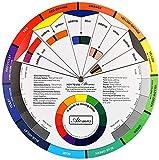 Rueda de colores Namvo, Guía de aprendizaje de mezcla de pintura Herramienta de enseñanza de clase de arte para tabla de mezcla de maquillaje Tabla de colores mezclados 5.5 pulgadas / 14 cm