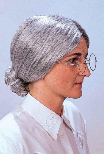 Perruque de grand mère adulte - Taille Unique