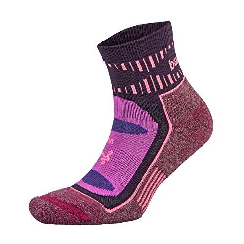 Balega Blister Resist Natural Fiber Athletic Quarter Socks (1 Pair), Pink/Wildberry, Medium