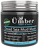 Umber NYC Dead Sea Mud Mask - Face and Body Natural Skin Care for Men and Women Minimize Acne, Pores & Wrinkles