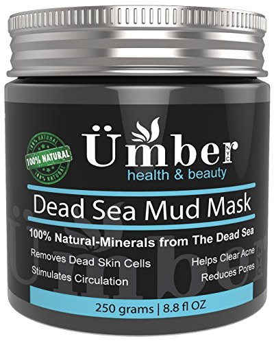 Dead Sea Mud Mask for Face and Body Treatment 100% Natural and Organic Skin Cleanser - Removes Dead Skin, Clear Acne, Reduce Pores & Wrinkles by Umber NYC