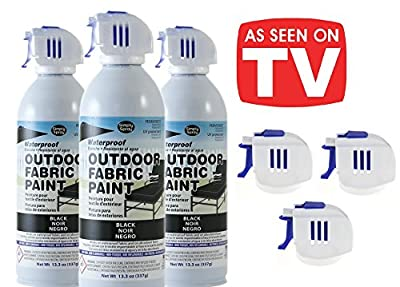 As Seen on TV Simply Spray - Outdoor Waterproof All Purpose Permanent Spray Paint with EXTRA Replacement Nozzle - 13.3 oz - New Improved Nozzle!