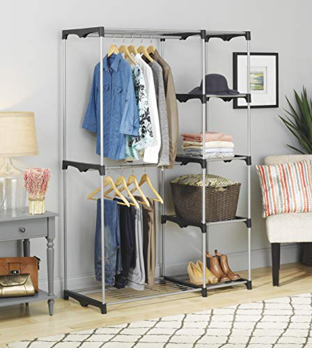 a stand alone closet will give you more storage space in a bedroom with no closet